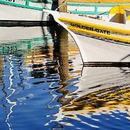Fisherman's Wharf, San Francisco, California, Row of fishing boats in marina