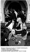 Marquess of Worcester & Lady Liza Campbell. Valentino party. Annabel's. 15/9/87. Film 87766f12<br /> © Copyright Photograph by Dafydd Jones<br /> 66 Stockwell Park Rd. London SW9 0DA<br /> Tel 0171 733 0108