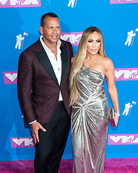 August 21, 2018 - New York City, New York, USA - 8/20/18.Alex Rodriguez and Jennifer Lopez at the 2018 MTV Video Music Awards at Radio City Music Hall in New York City. (Credit Image: © Starmax/Newscom via ZUMA Press)