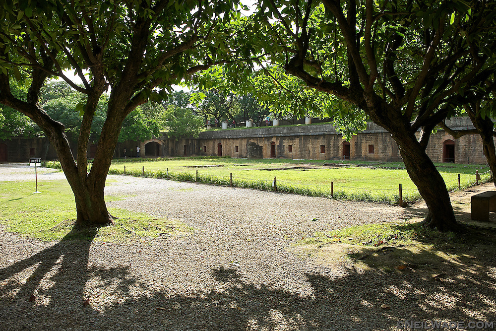 The grounds of Huwei Fort ???? in Danshui, Taiwan have been turned into a nice park.