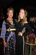 NIKKI TIBBLES, KELLY EASTWOOD, spotted at Bloom & Wild's exclusive event at 5 Hertford Street last night. 5 September 2017. The event was announcing the new partnership between the UK's most loved florist, Bloom & Wild and British floral design icon Nikki Tibbles Wild at Heart. Cocooned in swaths of vibrant Autumn blooms, guests enjoyed floral-inspired cocktails from Sipsmith and bubbles from Chandon, with canapés put on by 5 Hertford Street. Three limited edition bouquets from the partnership can be bought through Bloom & Wild's website from the 1st September.  bloomandwild.com/WAH