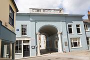 Historic archway, Elm Street and Lion Street, Ipswich, Suffolk, England, UK