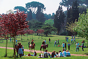 ITALY, ROME Villa Borghese park created in the 17th century by Cardinal Scipione Borghese