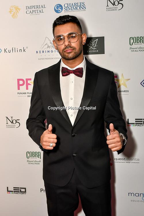 Jaz Dhami attend the BritAsiaTV Presents Kuflink Punjabi Film Awards 2019 at Grosvenor House, Park Lane, London,United Kingdom. 30 March 2019