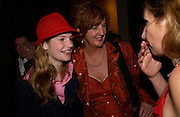 the writer Marian Goos and her daughter Sarah Blok, After show opened at the the Old Vic party for Cloaca, One Aldwych, WC2. 28 September 2004. SUPPLIED FOR ONE-TIME USE ONLY-DO NOT ARCHIVE. © Copyright Photograph by Dafydd Jones 66 Stockwell Park Rd. London SW9 0DA Tel 020 7733 0108 www.dafjones.com