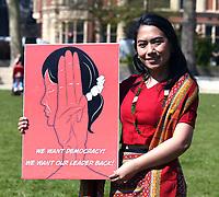 'Solidarity with Myanmar' protestwestminster sq London Photo by Krisztian Elek