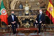 031221 King Felipe VI attends a meeting with Marcelo Rebelo de Sousa