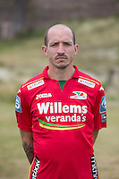 20150626 - OOSTENDE, BELGIUM: Oostende's Frank Berrier pictured during the 2015-2016 season photo shoot of Belgian first league soccer team KV Oostende, Friday 26 June 2015 in Oostende. BELGA PHOTO KURT DESPLENTER