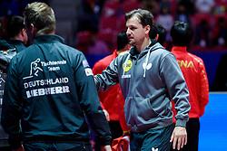 May 6, 2018 - Halmstad, SVERIGE - 180506 Tysklands Timo Boll efter herrarnas final mellan Tyskland och Kina under dag 8 av Lag-VM i Bordtennis den 6 maj 2018 i Halmstad  (Credit Image: © Carl Sandin/Bildbyran via ZUMA Press)