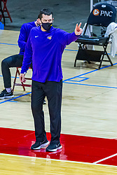 NORMAL, IL - February 27: Ben Jacobson during a college basketball game between the ISU Redbirds and the Northern Iowa Panthers on February 27 2021 at Redbird Arena in Normal, IL. (Photo by Alan Look)