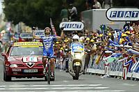 SYKKEL<br /> Tour de France 2003<br /> Foto: DPPI/Digitalsport<br /> <br /> NORWAY ONLY<br /> <br /> <br /> CYCLING - TOUR DE FRANCE 2003 - STEP17 - DAX > BORDEAUX - 24072003 - PHOTO: JULIEN CROSNIER / DPPI<br /> SERVAIS KNAVEN (NED) / QUICK STEP - DAVITAMON