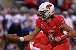 NORMAL, IL - September 08: Brady Davis during 107th Mid-America Classic college football game between the ISU (Illinois State University) Redbirds and the Eastern Illinois Panthers on September 08 2018 at Hancock Stadium in Normal, IL. (Photo by Alan Look)