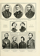 Portraits of Federal Generals of Wisconsin from the book ' The Civil war through the camera ' hundreds of vivid photographs actually taken in Civil war times, sixteen reproductions in color of famous war paintings. The new text history by Henry W. Elson. A. complete illustrated history of the Civil war