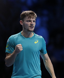 2017?11?13?.    ?????1???——ATP??????Goffin?????.       11?13??Goffin?????.       ???????????ATP????????????????????????Goffin?2?1???????????.       ????????.(SP) BRITAIN-LONDON-TENNIS-ATP FINALS-NADAL VS GOFFIN.(171113) -- LONDON, Nov. 13, 2017  David Goffin of Belgium competes during the singles group match against Rafael Nadal of Spain during the Nitto ATP World Tour Finals at O2 Arena in London, Britain on Nov. 13, 2017. Rafael Nadal lost 1-2. (Credit Image: © Han Yan/Xinhua via ZUMA Wire)