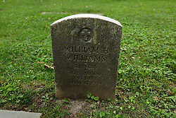 26 August 2017:   A part of the History of McLean County Illinois.<br /> <br /> Tombstones in Evergreen Memorial Cemetery.  Civic leaders, soldiers, and other prominent people are featured.<br /> <br /> Section 16 - Veterans Section<br /> William H Williams<br /> Illinois<br /> Sergeant 370 INF<br /> 93 DIV<br /> April 12, 1939