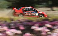 Justin DOWEL & Matt LEE .Mitsubishi  Lancer Evo IX.Motorsport-Rally/2009 Forest Rally .Heat 2.5th of April 2009.Nannup, Western Australia.(C) Joel Strickland Photographics