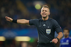 LONDON, ENGLAND - Wednesday, December 10, 2014: Norwegian referee Svein Oddvar Moen during the final UEFA Champions League Group G match between Chelsea and Sporting Clube de Portugal at Stamford Bridge. (Pic by David Rawcliffe/Propaganda)