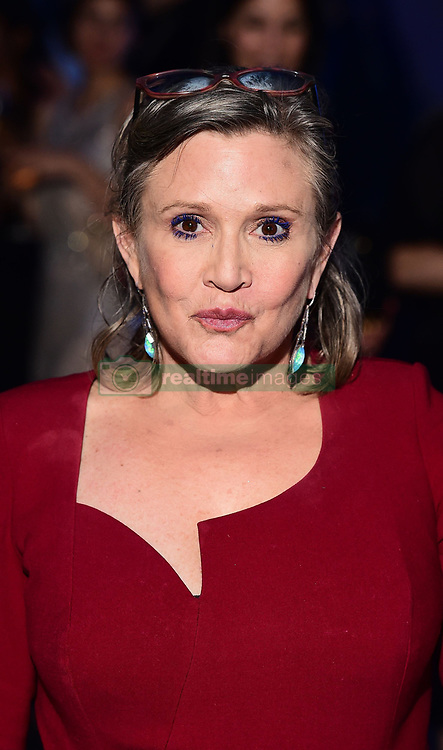 File photo dated 16/12/15 of Star Wars actress Carrie Fisher who had heroin, cocaine and MDMA in her system when she died but their role in her death could not be determined, a coroner has found.