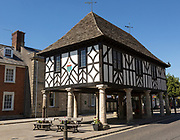 Town Hall building original seventeenth century restored 1889 now a museum, Royal Wootten Bassett, Wiltshire, England, UK