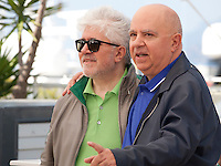 Director Pedro Almodóvar  and Producer Agustín Almodóvar at the Julieta film photo call at the 69th Cannes Film Festival Tuesday 17th May 2016, Cannes, France. Photography: Doreen Kennedy