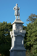 Civil war soldier's memorial in the cemetery at Bar Harbor, Maine, USA