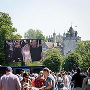 Il matrimonio reale a Windsor tra il Principe Harry, Duca del Sussex e l'ex attrice americana Meghan Markle, ora Duchessa del Sussex.<br /> <br /> The Royal Wedding of Prince Harry, Duke of Sussex, and the former American actress Meghan Markle, now Duchess of Sussex