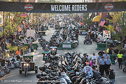Main Street during the annual Sturgis Black Hills Motorcycle Rally. Sturgis, SD, USA. Monday August 7, 2017. Photography ©2017 Michael Lichter.