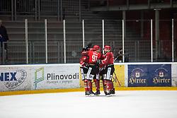 HDD Acroni Jesenice celebrates during First league between HDD Acroni Jesenice vs HK SZ Olimpia, on April 23, 2019 in Jesenice, Slovenia. Photo by Peter Podobnik / Sportida