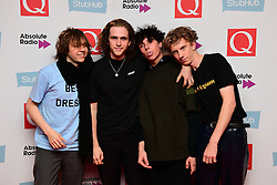 Ratboy (left) and his entourage attending the Stubhub Q Awards 2016, in association with Absolute Radio, at the Roundhouse, London.