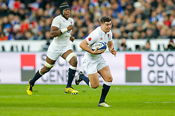 England replacement Ben Youngs breaks before chipping through to put Winger Anthony Watson in for a try in the corner - Mandatory byline: Rogan Thomson/JMP - 19/03/2016 - RUGBY UNION - Stade de France - Paris, France - France v England - RBS 6 Nations 2016.