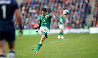 Rugby Union - 2019 Guinness Six Nations Championship - Scotland vs. Ireland<br /> <br /> Joey Carbery of Ireland kicks a conversion at Murrayfield <br /> <br /> COLORSPORT/LYNNE CAMERON