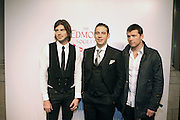 l to r: Victor Kubicek, Derek Anderson and Sam Worthington at the The Edmont Society Affair:  A Benefit for Reader and Writers with a performance by Common and Maya Angelou held at The Friars Club on October 27,, 2008