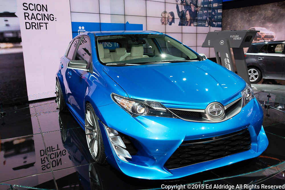 DETROIT, MI, USA - JANUARY 13, 2015: Scion iM concept on display during the 2015 Detroit International Auto Show at the COBO Center in downtown Detroit.