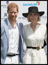 May 24, 2019 - Rome, London, Italy - Image licensed to i-Images Picture Agency. 24/05/2019. Rome, Italy. Prince Harry, The Duke of Sussex with Delfina Blaquier the wife of polo player Nacho Figueras at the 2019 Sentebale ISPS Handa Polo Cup at Rome Polo Club, Italy. (Credit Image: © Stephen Lock/i-Images via ZUMA Press)
