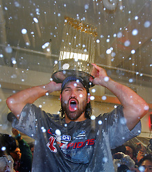 Johnny Damon and the Boston Red Sox win, 2004
