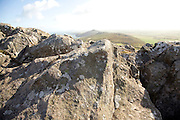 Carn Llidi tor summit looking north, St David's Head, Pembrokeshire, Wales