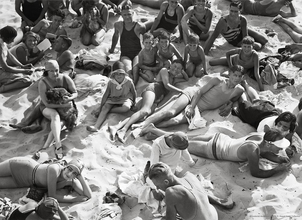 Bathers, Bondi Beach, Sydney, Australia, 1930