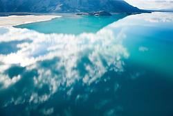 Reflection on Kluane Lake, Yukon