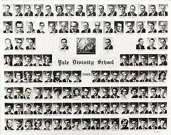 1969 Yale Divinity School Senior Portrait Class Group Photograph