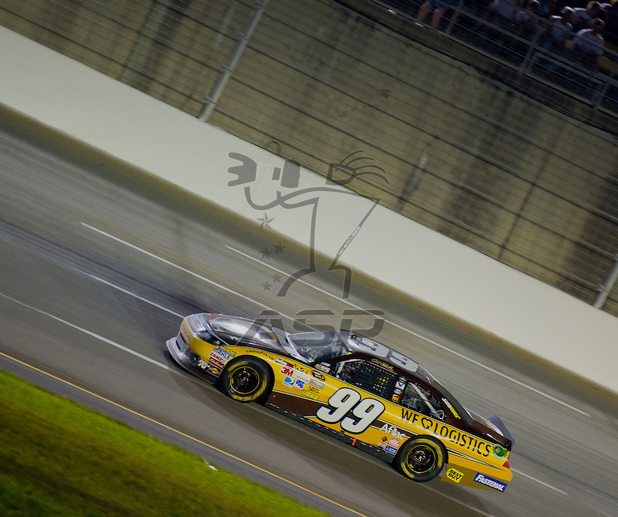 Sparta, KY - JUN 30, 2012: Carl Edwards (99) during the Quaker State 400 at  Kentucky Speedway in Sparta, KY.