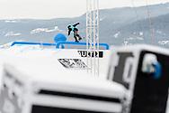 Marcus Kleveland during Men's Snowboard Slopestyle Practice during 2017 X Games Norway at Hafjell Alpinsenter in Øyer, Norway. ©Brett Wilhelm/ESPN