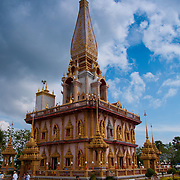 Pagoda of Wat Chalong buddist temple in Phuket, Thailand