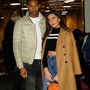 London, England, UK. 1st December 2017. Jade King (R) DeReece Grant attends Sagaboi Magazine: Men's Style 2017 - book launch held at WeWork Old Street.