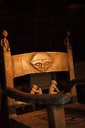 Carved chair, Camp Ngaga, Odzala-Kokoua National Park.