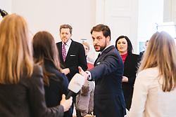 11.03.2020, Bundeskanzleramt, Wien, AUT, Bundesregierung, Pressestatements vor Sitzung des Ministerrats, im Bild v. l. Harald Mahrer (WKOe), Elisabeth Koestinger (OeVP)// during media briefing before cabinet meeting at the federal chancellery in Vienna, Austria on 2020/03/11. EXPA Pictures © 2020, PhotoCredit: EXPA/ Florian Schroetter