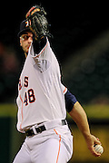 Sep 3, 2013; Houston, TX, USA; Houston Astros starting pitcher Jarred Cosart (48) pitches against the Minnesota Twins during the second inning at Minute Maid Park. Mandatory Credit: Thomas Campbell-USA TODAY Sports