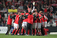 20120306: LISBON, PORTUGAL - Champions League 2011/2012 - 2st leg: SL Benfica vs Zenit FC.<br /> In picture: Benfica team celebrating wining.<br /> PHOTO: Carlos Rodrigues/CITYFILES