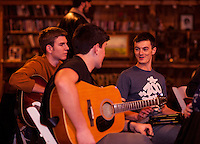 Laconia High School's Open Mic Coffee House at Pitman's Freight Room.  Karen Bobotas for the Laconia Daily Sun