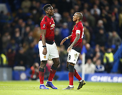 February 18, 2019 - London, United Kingdom - Manchester United's Paul Pogba celebrates scoring his sides first goal .during FA Cup Fifth Round between Chelsea and Manchester United at Stanford Bridge stadium , London, England on 18 Feb 2019. (Credit Image: © Action Foto Sport/NurPhoto via ZUMA Press)