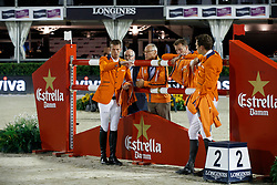 Team Netherlands, Ehrens Rob, Houtzager Marc, Smolders Harrie, Hendrix Michel, NED<br /> CSIO Barcelona 2017<br /> © Hippo Foto - Dirk Caremans<br /> 30/09/2017